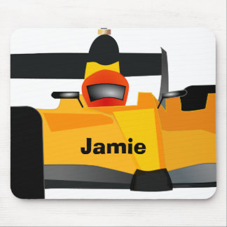 Personalize Race Car Birthday Party Gifts Mouse Pad