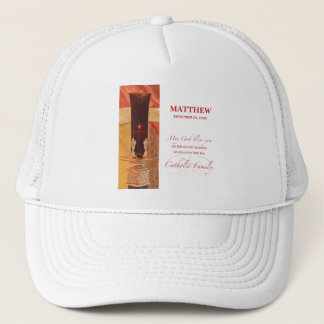 Personalize, RCIA Congratulations, Catholic, Red Trucker Hat