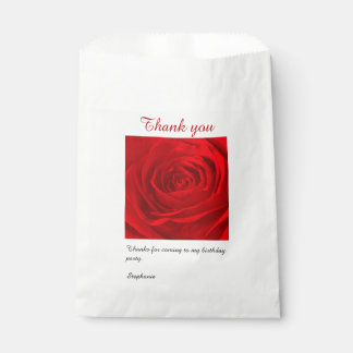 Personalize: Red Rose Abstract Photography Favour Bag