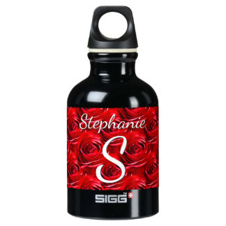 Personalize: Red Rose Pattern - Floral Photography SIGG Traveller 0.3L Water Bottle