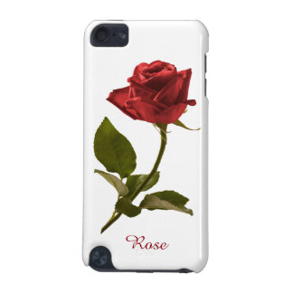 Personalize: Single Red Rose Floral Photography iPod Touch 5G Cover