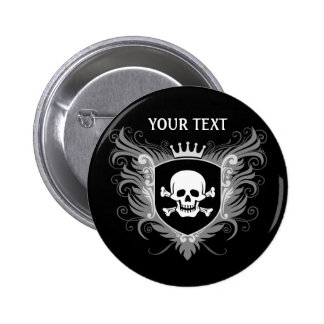 Personalize Skull Crest [dark] Buttons