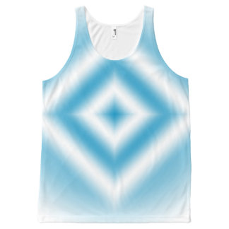 Personalize-sky blue diamond gradient All-Over print singlet