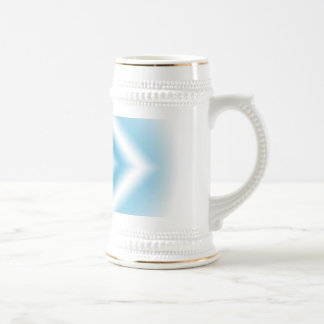 Personalize-sky blue diamond gradient beer stein