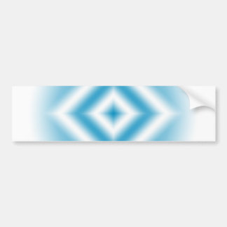 Personalize-sky blue diamond gradient bumper sticker