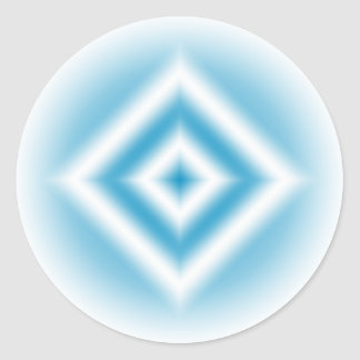 Personalize-sky blue diamond gradient classic round sticker