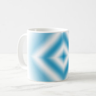 Personalize-sky blue diamond gradient coffee mug