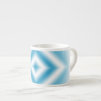 Personalize-sky blue diamond gradient espresso cup