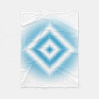 Personalize-sky blue diamond gradient fleece blanket