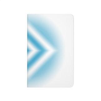 Personalize-sky blue diamond gradient journal