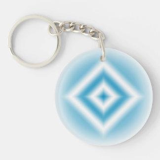 Personalize-sky blue diamond gradient key ring