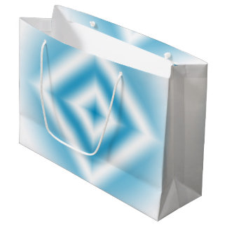 Personalize-sky blue diamond gradient large gift bag