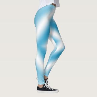 Personalize-sky blue diamond gradient leggings