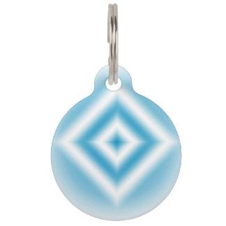Personalize-sky blue diamond gradient pet tag