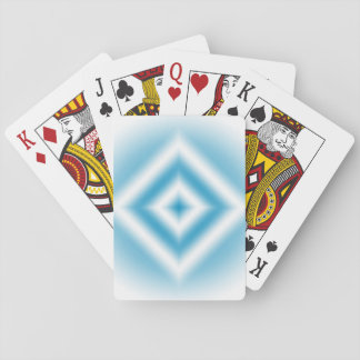Personalize-sky blue diamond gradient playing cards