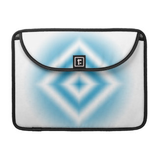 Personalize-sky blue diamond gradient sleeve for MacBooks