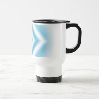 Personalize-sky blue diamond gradient travel mug