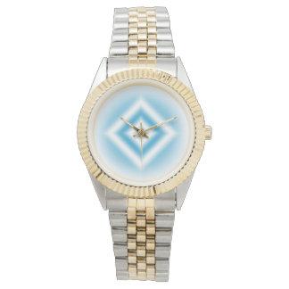 Personalize-sky blue diamond gradient watch