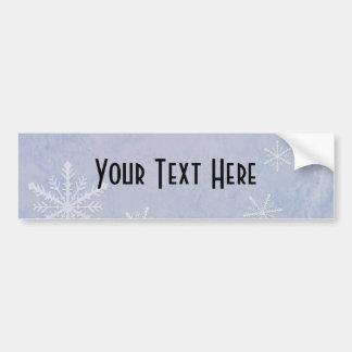 PERSONALIZE Snowflake Paper 3 - Original Blue Bumper Stickers