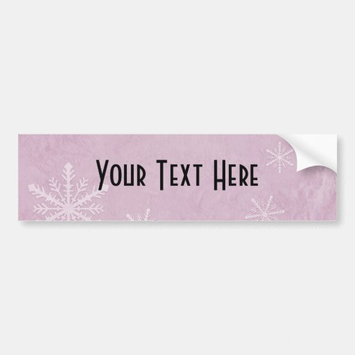 PERSONALIZE Snowflake Paper 3 - Pink Bumper Stickers