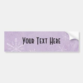 PERSONALIZE Snowflake Paper 3 - Purple Bumper Sticker