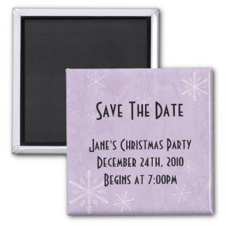 PERSONALIZE Snowflake Paper 3 - Purple Magnets