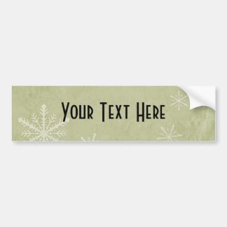 PERSONALIZE Snowflake Paper 3 - Yellow Bumper Stickers