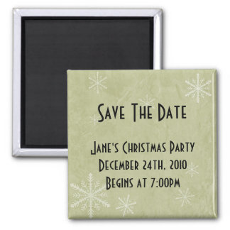 PERSONALIZE Snowflake Paper 3 - Yellow Square Magnet