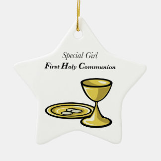 Personalize, Special Girl, First Communion Ceramic Ornament