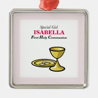 Personalize, Special Girl, First Communion Metal Ornament