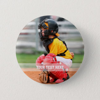 Personalize Sports Photo 6 Cm Round Badge