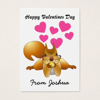 Personalize Squirrel Valentines Day Cards for Kids