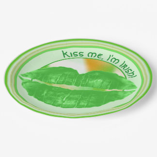Personalize St Patrick's Day Party Theme - Lips Paper Plate