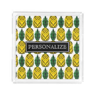 PERSONALIZE SUMMER PINEAPPLE ACRYLIC TRAY
