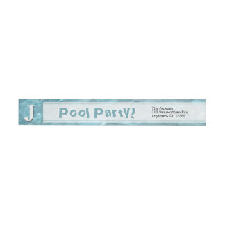 Personalize: Swimming Pool Abstract Photography Wrap Around Label