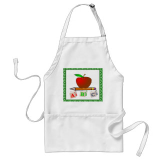 Personalize Teachers' ABC, Apple and Pencils Adult Apron