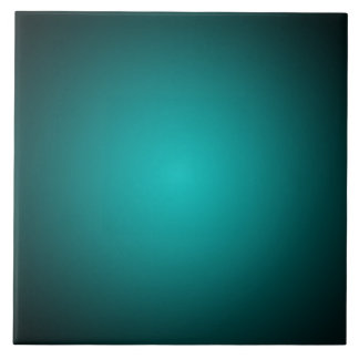 Personalize - Teal ombre gradient background Ceramic Tile