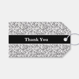 Personalize Thank You 50th Birthday Gift Tag