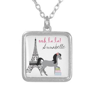 Personalize The Pretty Ponies Paris Horse Necklace