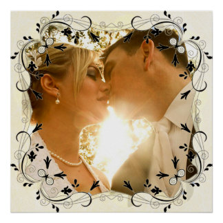 Personalize this Gorgeous Wedding Photo Poster