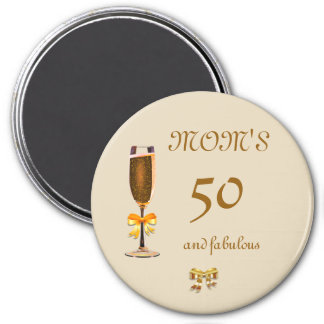 Personalize this Happy 50th Birthday Mom Magnet