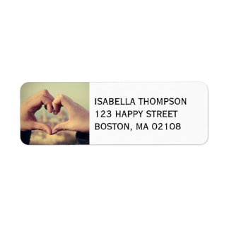 Personalize this Heart Return Address Label