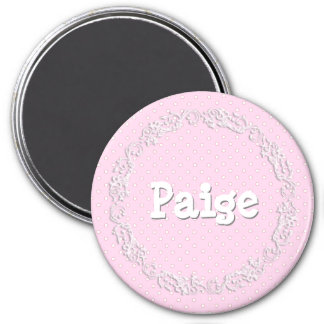 Personalize this Pink Dotted Name Magnet