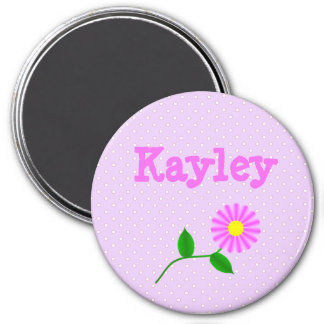 Personalize this  Purple Polka Dotted Name Magnet