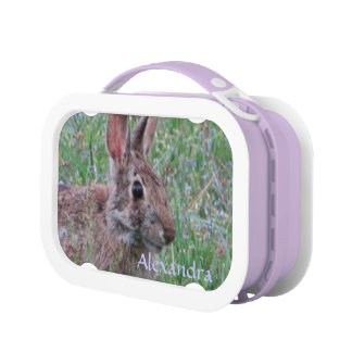 Personalize This Spring Bunny Rabbit Lunch Tote Lunch Boxes