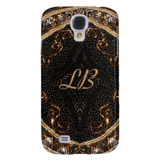 Personalize this Vintage Beaded Purse design Galaxy S4 Covers