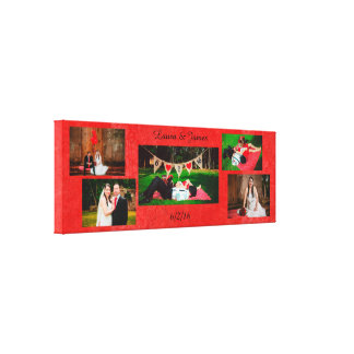 Personalize this Wedding Photos Collage Wall Art