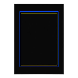 PERSONALIZE This Yellow Blue Frame Card