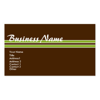 Personalize Tropical Colors Profile/Business Card3 Business Card Templates