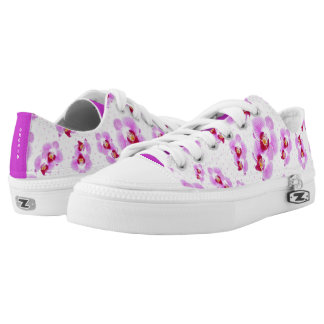 Personalize: Tropical Orchid Floral Photography Low Tops